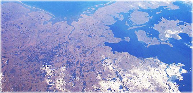 Norddeutschland aus dem Weltraum