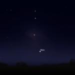 Mondfinsternis mit Mars (Stellarium)