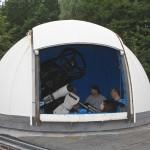 Die Sternwartenkuppel mit dem Teleskop
