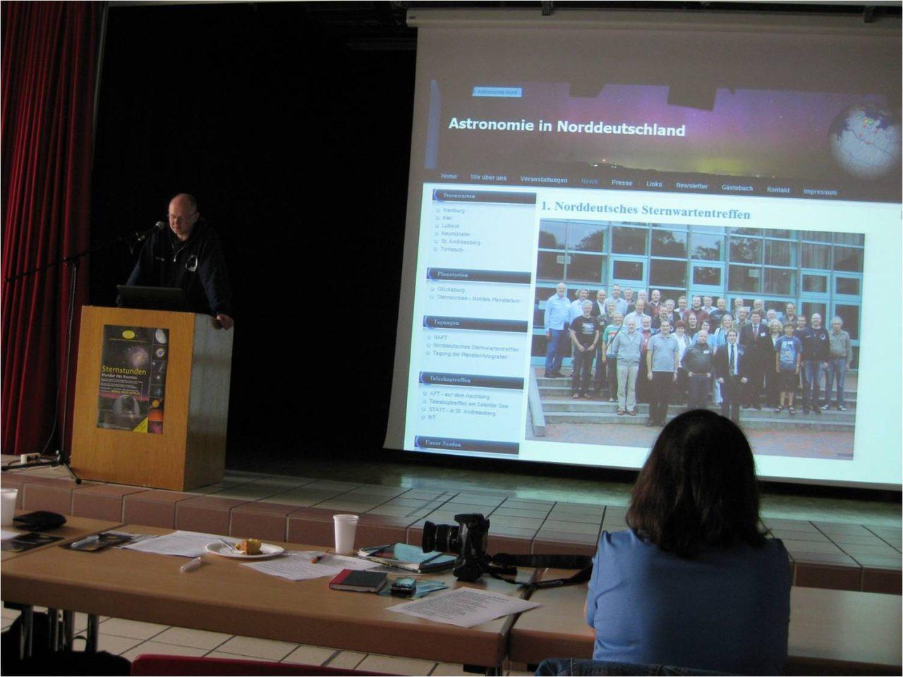 Vorstellung der Homepage Astronomie Nord